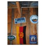 19 - 24 inch boards beer signs and German flag