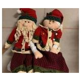 2 to 3 ft Santa and Mrs. Claus