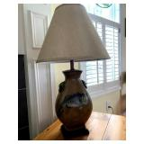 Trout - fish pottery lamp