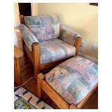 Pine Chair and ottoman
