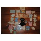 60 plus old miniature doll clothes