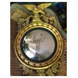 Atq Mirror w Gilt Eagle