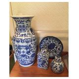 Blue and White Asian Style Pottery