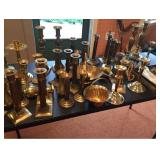 Brass Candlesticks and More
