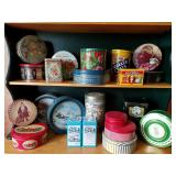 Collection Vtg Tins