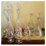 Decanters and Cognac Snifters