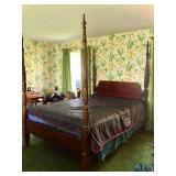 Four Poster Queen Cherry Bed