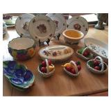 Fruit Themed China and Pottery