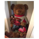 Giant Teddy Bear w 3 Friends