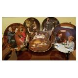 Norman Rockwell Plates w COA 6