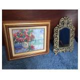 Original Art and Vtg Mirror
