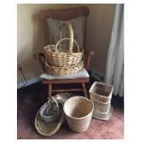 Rocker and Wicker Baskets