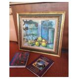 Signed Oil Painting and Art Books