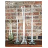 Tall Flute Style Vases 4