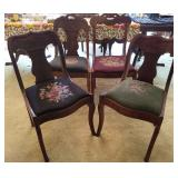 Victorian Needlepoint Chairs 4