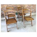 Vtg Folding Chairs