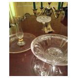 Vtg Glass and Candelabra