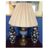 Vtg Lamp and Vases