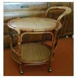 Vtg Oval Tea Cart