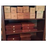Vtg Wood Cigar Boxes