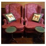 Wingback Chairs, Leather Tables