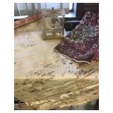 Asian Tapestry, Area Rug, Vtg Clock