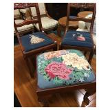 Childrens Chairs w/Needlepoint Seats
