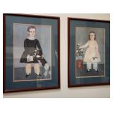 Framed Early American Portrait Prints 2