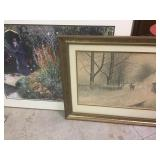 Framed Paul Sawyier & Garden Print