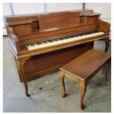 Janssen Upright Piano & Bench