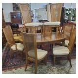 MCM Walnut Table & Chairs