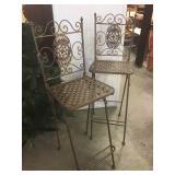Sturdy Metal Folding Bar Chairs