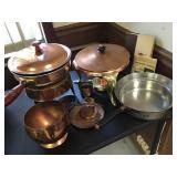 Vtg Copper Chafing Dishes