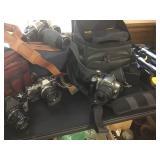 Vtg Film & Digital Cameras - Olympus, Canon