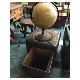 Vtg Globe, Storage Ottoman