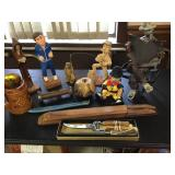 Wood Carvings, Knives, Puppet