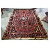 Atq Persian Hand-Knotted Wool Rug