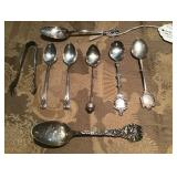 Atq Sterling Demitasse & Souvenir Spoons