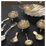 Atq Sterling Shell Shaped Spoons