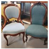 Atq Victorian Upholstered Chairs