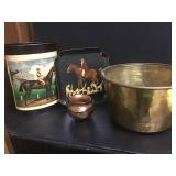 Brass Bucket & Metal Collectibles