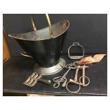 Coal Scuttle & Horse Accessories