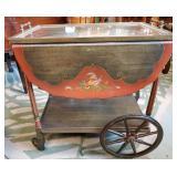 Hand Painted Tea Cart