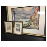 Original Framed Watercolors 3