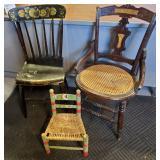 Three Vtg Chairs