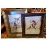 Two Framed Bird Prints