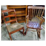 Two Vtg Rocking Chairs