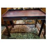 Vtg Chippendale Walnut Desk