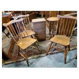Vtg Maple Chairs, Chest + Pedestal
