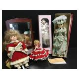 Collectible Dolls & Mirror Stand